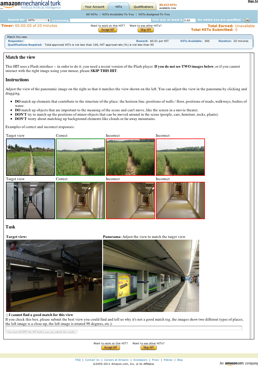 Recognizing Scene Viewpoint using Panoramic Place Representation